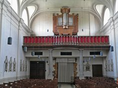 Kerk Pellenberg Doksaal en orgel