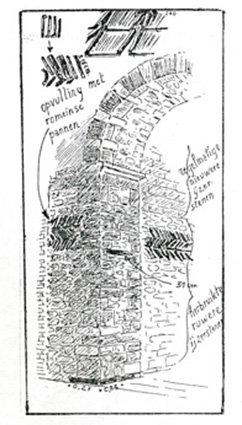 Kerk Pellenberg detail toren