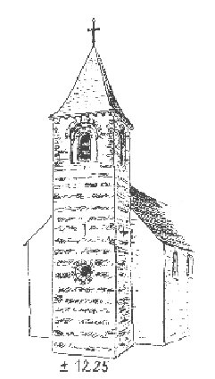 Kerk Pellenberg romaanse toren